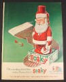 Magazine Ad for Colgate Santa Claus Soaky Soap Bottle Toy, 1962, 8 1/4 by 11