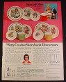 Magazine Ad for Betty Crocker Storybook Dinnerware Raggedy Ann & Andy Peter Rabbit Goldilocks