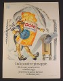 Magazine Ad for Dole Pineapple Can Signing Declaration of Independence, 1973
