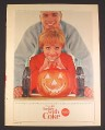 Magazine Ad for Coca-Cola Coke, Couple with Jack O Lantern, 1964