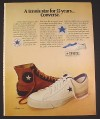 Magazine Ad for Converse Tennis Shoes, 55 Years, All Star, 1974