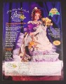 Magazine Ad for Rose a Musical Collector Doll, Paradise Galleries, 1998