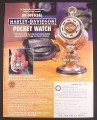 Magazine Ad for Harley Davidson Pocket Watch, Franklin Mint, 1999