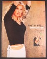 Magazine Ad for Faith Hill Breathe Album, 1999
