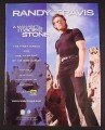 Magazine Ad for Randy Travis A Man Ain't Made Of Stone Album, 1999