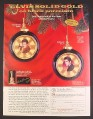 Magazine Ad for Elvis Presley Gold Album Christmas Decoration, Bradford, 1999