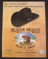 Magazine Ad for Beaver Brand Cowboy Hat, Langenberg Hat Company, 1999