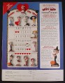 Magazine Ad for Betty Boop Calendar Figures Sculptures, Danbury Mint, 2000