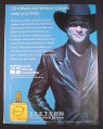 Magazine Ad for Clint Black & Stetson Cologne, Cystic Fibrosis Foundation, 2000