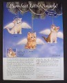 Magazine Ad for Purr-Fect Little Angels, Kittens Ornaments, Bradford, 2000