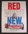 Magazine Ad for Baby Ruth Chocolate Bar, Red White & New, 2001
