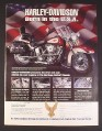 Magazine Ad for Harley Davidson Heritage Softail Classic Diecast Metal Replica, 1993