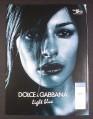 Magazine Ad for Dolce & Gabbana Light Blue Perfume, 2004