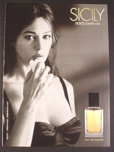 Magazine Ad for Sicily Perfume by Dolce & Gabbana, Sexy ...