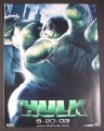 Magazine Ad for The Incredible Hulk Movie, 2003