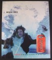Magazine Ad for C2 Coca-Cola Coke, Man Plunging into Water, 2004