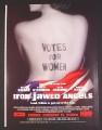 Magazine Ad for Iron Jawed Angels Movie, Hilary Swank, 2004