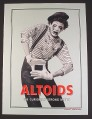 Magazine Ad for Altoids, Crying Mime Making Shape of Tin with Hands, 2004