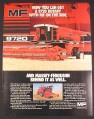 Magazine Ad for Massey Ferguson 9720 Combine, Farm Machinery, 1985