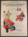 Magazine Ad for Massey-Ferguson 7HP & 12HP Garden Tractor, 1970