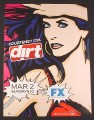 Magazine Ad for Dirt TV Show Premiere, Courteney Cox, 2004