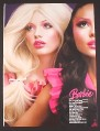 Magazine Ad for Barbie Loves M.A.C., Cosmetics For Living Dolls, 2007