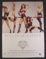 Magazine Ad for Pussycat Dolls, Doll Domination Album, Nicole Scherzinger Celebrity, 2008