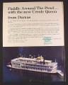 Magazine Ad for Dumas Boats Creole Queen R/C Paddlewheel Boat, Toys, 1985