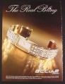 Magazine Ad for Accurist Accu 2 Bracelet Watch, The real Bling, 2005