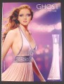 Magazine Ad for Ghost Perfume, Fragrance, Model is Lily Cole, Anticipation, 2008