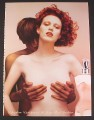 Magazine Ad for Classique Fragrance Perfume Female Model with Breasts Cupped By Man 2004