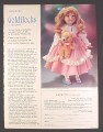 Magazine Ad for Goldilocks Porcelain Doll, Franklin Heirloom Dolls, 1985