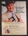 Magazine Ad for BVD Underwear, J.R. Ewing Dallas, Larry Hagman Celebrity Endorsement, 1985