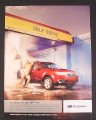 Magazine Ad for Subaru, Sumo Wrestler in Car Wash, SUV's Just Got A Little Sexier, Funny, 2008