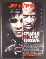 Magazine Ad for Cradle 2 The Grave Movie, Jet Li, DMX, 2003