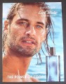 Magazine Ad for Davidoff Cool Water Fragrance, Josh Holloway of Lost, Celebrity, 2008, 8 1/4x10 3/4