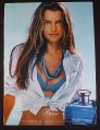 Magazine Ad for Ralph Lauren Blue Fragrance Perfume, Sexy Model in Blue Bathing Suit, 2005