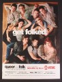 Magazine Ad for Queer As Folk Showtime TV Show, Get Folked, 2004
