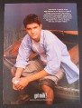 Magazine Ad for Got Milk, Joshua Jackson, Dawson's Creek, Fringe, Celebrity, 1998