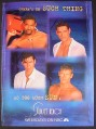 Magazine Ad for Sunset Beach TV Show, Eddie Cibrian, Jason George, Sam Behrens, 1998
