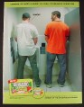 Magazine Ad for Ice Breakers Sours Gum, 2 Guys at Urinals, One Yells Whoa, Funny, 2007