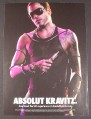 Magazine Ad for Absolut Kravatz, Absolut Vodka, Lenny, Celebrity, 2009