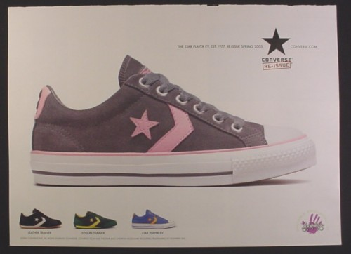 Magazine Ad for Converse Re-Issue Sneakers, 4 Models, 2003 ...