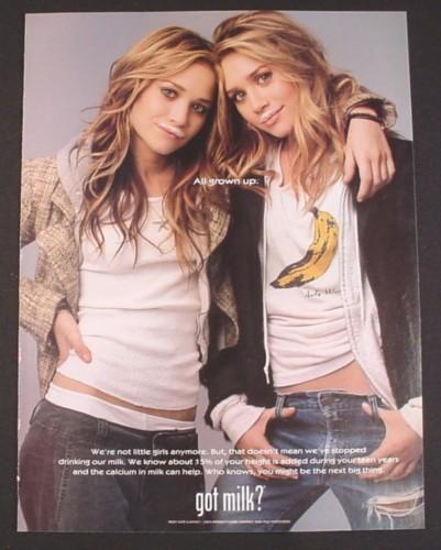 Magazine Ad For Got Milk, Mary-Kate & Ashley Olsen, 2004