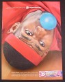 Magazine Ad for Bubblicious Carnival Cotton Candy Gum, LeBron James, Celebrity, 2004