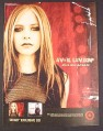 Magazine Ad for Avril Lavigne, Avril Live Acoustic Album, 2004