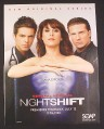 Magazine Ad for General Hospital Night Shift TV Show Premiere, 2007