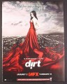 Magazine Ad for Dirt TV Show, Courteney Cox in Flowing Red Gown, 2007