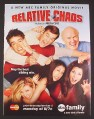 Magazine Ad for Relative Chaos TV Show, Charisma Carpenter, Jayne Eastwood, 2006