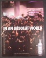 Magazine Ad for Absolut Vodka, Absolut World, Man Being Lifted Above Crowd to The Bar, 2008